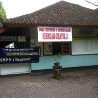 Photo taken at SMPN 4 Denpasar by Sassu D. on 12/5/2012
