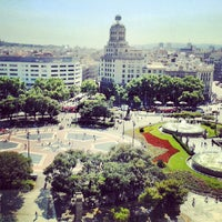 Photo taken at Plaça de Catalunya by Tommi N. on 6/10/2013