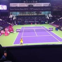 Photo taken at Khalifa International Tennis & Squash Complex by Sadah O. on 2/12/2013
