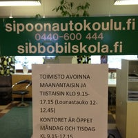 Photo taken at Sipoon Autokoulu by Rikhard L. on 2/6/2013