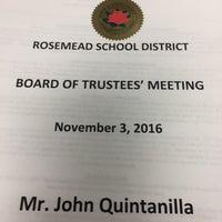 Photo taken at Rosemead School District by John Q. on 11/4/2016