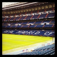 Photo taken at Santiago Bernabéu Stadium by Camilla F. on 5/10/2013