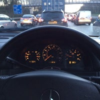 Photo taken at M3 Junction 3 by Marcus R. on 12/19/2013
