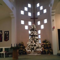Photo taken at Lynnewood United Methodist Church by Peter on 12/25/2013