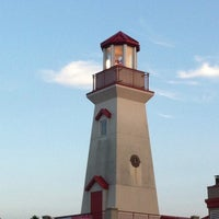 Photo taken at Port Credit Lighthouse by Duygu O. on 8/16/2014