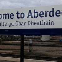 Photo taken at Aberdeen Railway Station (ABD) by Mark on 3/31/2013