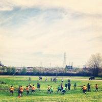 Photo taken at Clark Fields by Luis C. on 5/4/2013