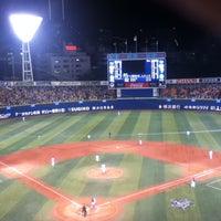 Photo taken at Yokohama Stadium by godhorse on 5/8/2013