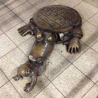 Photo taken at MTA Subway - 14th St (F/L/M) by Darwin D. on 4/20/2013