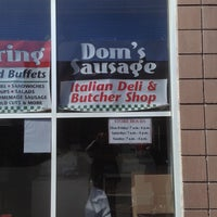 Photo taken at Dom's Sausage Co. by Bobby W. on 4/6/2013
