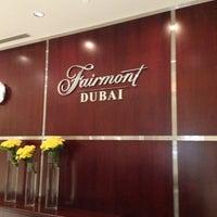 Photo taken at Fairmont Dubai by Marologyz on 3/14/2013