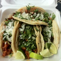 Photo taken at El Charrito Taco Truck by Leyla D. on 3/12/2013