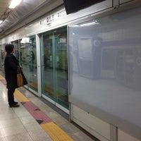 Photo taken at Songjeong Stn. by Sean M. on 10/23/2013
