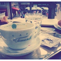 Photo taken at Cafe Tomaselli by Muge Y. on 8/24/2013