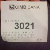 Photo taken at CIMB Bank by Syaira A. on 4/9/2013
