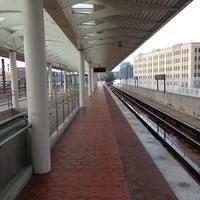Photo taken at NoMa-Gallaudet U Metro Station by André P. on 7/28/2013