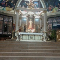 Photo taken at National Shrine of the Divine Mercy by Jomeriza G. on 4/2/2013