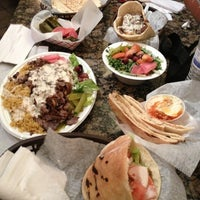 Photo taken at Mamoun's Falafel by Randah on 3/16/2013