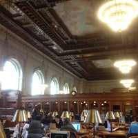 Photo taken at Rose Main Reading Room - New York Public Library by Greg B. on 10/28/2011
