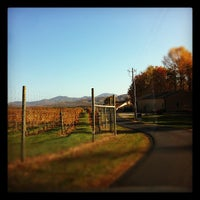 Photo taken at Afton Mountain Vineyards by Trevor D. on 11/6/2011