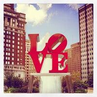 Photo taken at JFK Plaza / Love Park by Leslie B. on 8/29/2012