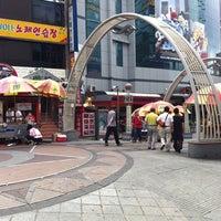 Photo taken at BIFF Square by MINA H. on 8/6/2011
