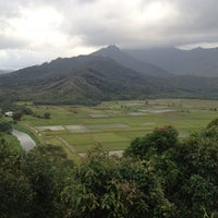 Photo taken at Hanalei Valley Lookout by Andy C. on 2/12/2012