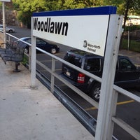 Photo taken at Metro North - Woodlawn Train Station by Michael B. on 5/18/2012