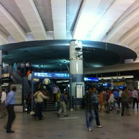 Photo taken at Rajiv Chowk | राजीव चौक Metro Station by Dr. Vikram R. on 3/17/2013