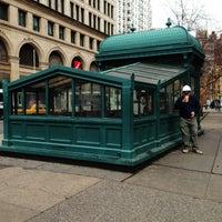Photo taken at Astor Place by Jeffrey Z. on 1/17/2013