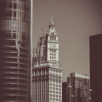 Photo taken at Wrigley Building by Jeffrey Z. on 8/25/2013