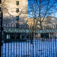 Photo taken at Augustus Saint-Gaudens Playground by Jeffrey Z. on 1/8/2015