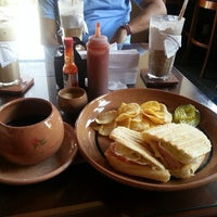 Photo taken at Cafe Las Flores by Maria P. on 3/10/2013