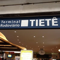 Photo taken at Terminal Rodoviário Tietê by Anabel M. on 7/22/2013