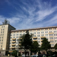Photo taken at Karl-Marx-Allee by Petr B. on 8/16/2013