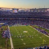 Photo taken at Qualcomm Stadium by Rahshan H. on 10/15/2013