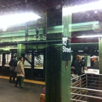 Photo taken at MTA Subway - 42nd Street Shuttle (S) by 🚍Bill🚍 V. on 5/9/2013