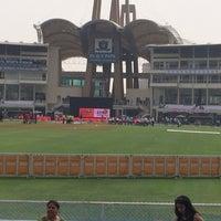 Photo taken at Dr. DY Patil Stadium (डा. डी. वाय. पाटील स्टेडीयम) by Priya N. on 1/25/2014