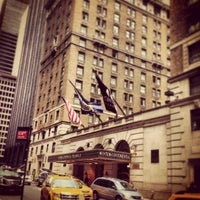 Photo taken at InterContinental New York Barclay by Greg B. on 3/23/2013