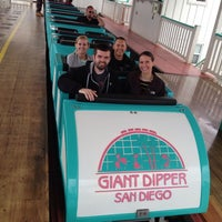 Photo taken at Giant Dipper Rollercoaster by Kate V. on 5/2/2013