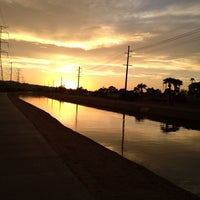 Photo taken at Tempe Canal @ Guadalupe Rd by Stu H. on 9/4/2013