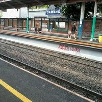 Photo taken at Stasiun Cawang by M.  Mukhti A. on 3/30/2013