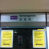 Photo taken at Serangoon MRT Interchange (NE12/CC13) by Jason Y. on 10/27/2012