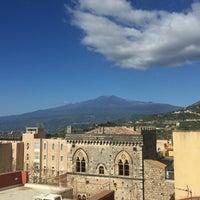 Photo taken at Taodomus Hotel Taormina by Kata K. on 4/26/2016