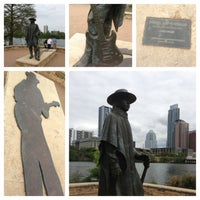 Photo taken at Stevie Ray Vaughan Statue by Rudy G. on 3/29/2013