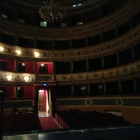 Photo taken at Teatro Giuseppe Manini by Michele C. on 4/5/2013