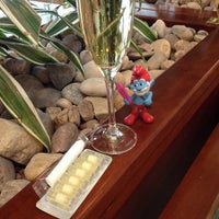 Photo taken at The Emirates Lounge by Luke G. on 6/1/2014