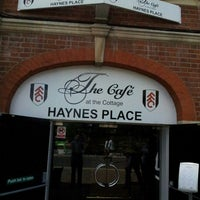 Photo taken at The Cafè At Craven Cottage by Giampiero on 8/9/2013