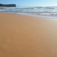 Photo taken at Mona Vale Beach by Bruno D. on 1/4/2013