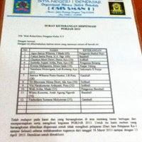 Photo taken at SMAN 1 Denpasar by satriya g. on 3/18/2013
